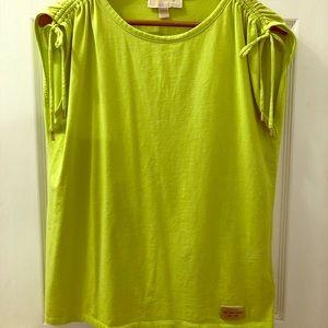 Michael Kors Lime Green sleeveless top